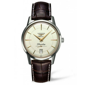 Longines Automatic Heritage Flagship Brown Alligator Watch 38MM L47954782 men's darien