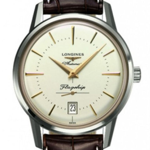 Longines Automatic Heritage Flagship Brown Alligator Watch 38MM L47954782 stamford