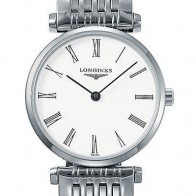 Longines La Grande Classique Quartz White Dial Stainless Steel 24MM L42094116 fairfield