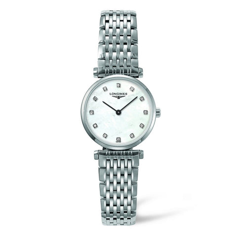 Longines La Grande Classique Quartz Diamond Markers Mother of Pearl Watch 24MM L42094876 nagi