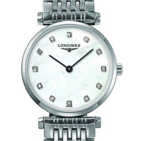 Longines La Grande Classique Quartz Diamond Mother of Pearl Watch 24MM L42094876 stamford