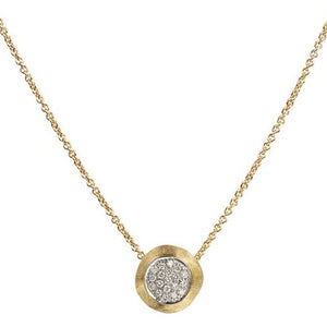 Marco Bicego 18K Gold Delicati Necklace with Pave Diamonds CB1809 B YW