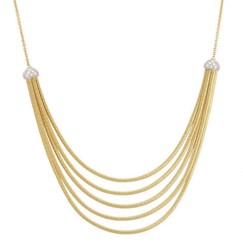 Marco Bicego Cairo Collar Necklace 5-Strand with Diamonds CG716 B YW