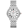 Michele Serein 16 Mother of Pearl Roman Numerals Diamond Dial and Bezel Watch
