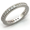 Princess Diamond Eternity Band Ring Milgrain Edge 18K 1.55 carats