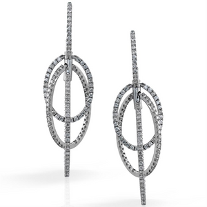Simon G. Duchess Collection Oval Shape Diamond Drop Dangle Earrings LP4117