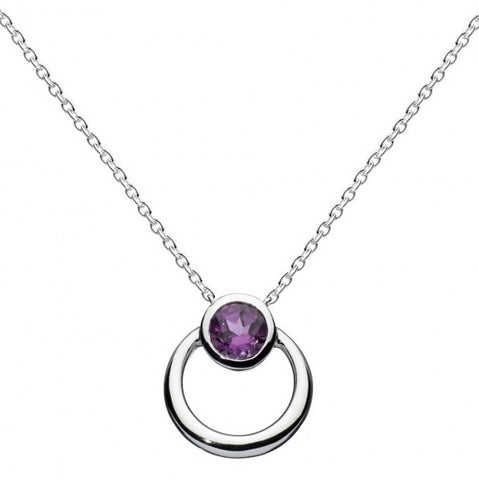 Kit Heath Sterling Silver Simmer Amethyst Loop Necklace