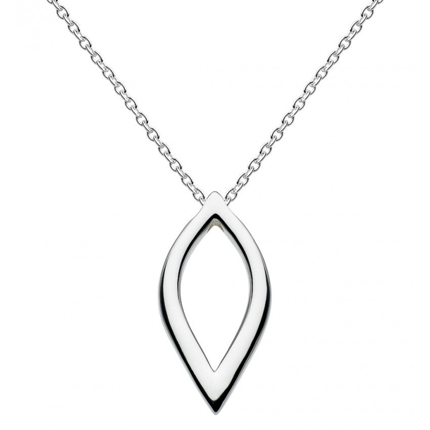 Kit Heath Sterling Silver Marquise Pointed Necklace