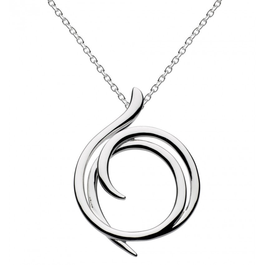 Kit Heath Sterling Silver Helix Wrap Pendant Necklace