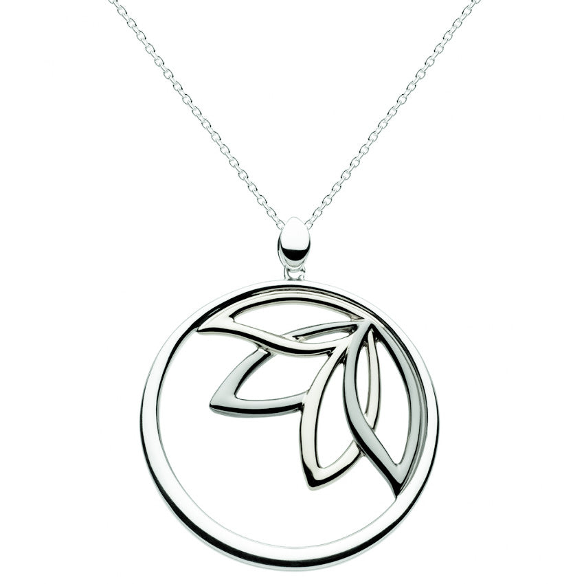 Kit Heath Sterling Silver Queen Lotus Necklace Pendant