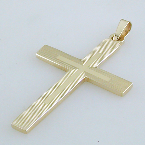 14k Yellow Gold Double Weight Cross 800S/2