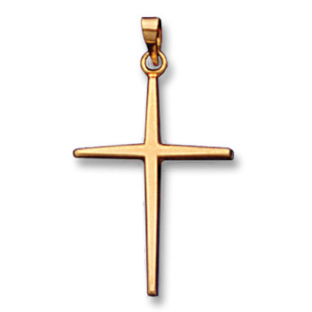 14k Yellow Gold Cross Charm Pendant