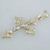 14k Yellow Gold Cross and Crucifix Charm Pendant