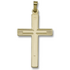 14k Yellow Gold Double Weight Cross