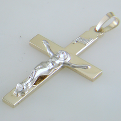 14k Yellow Gold Double Weight Crucifix Weighs 2.82 grams