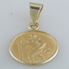 18k Yellow Gold St. Christopher Charm