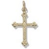 14k Yellow Gold Florentine Cross Pendant