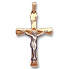 14k Yellow Gold Crucifix Cross Pendant