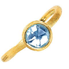 Marco Bicego Jaipur Blue Topaz 18K Yellow Gold Ring AB4712 TP01 Y