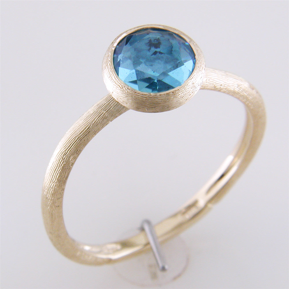 Marco Bicego Jaipur Blue Topaz 18K Yellow Gold Ring AB4712-TP01Y