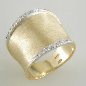 Marco Bicego Lunaria 18K Yellow Gold Ring with Diamonds AB551 B YW