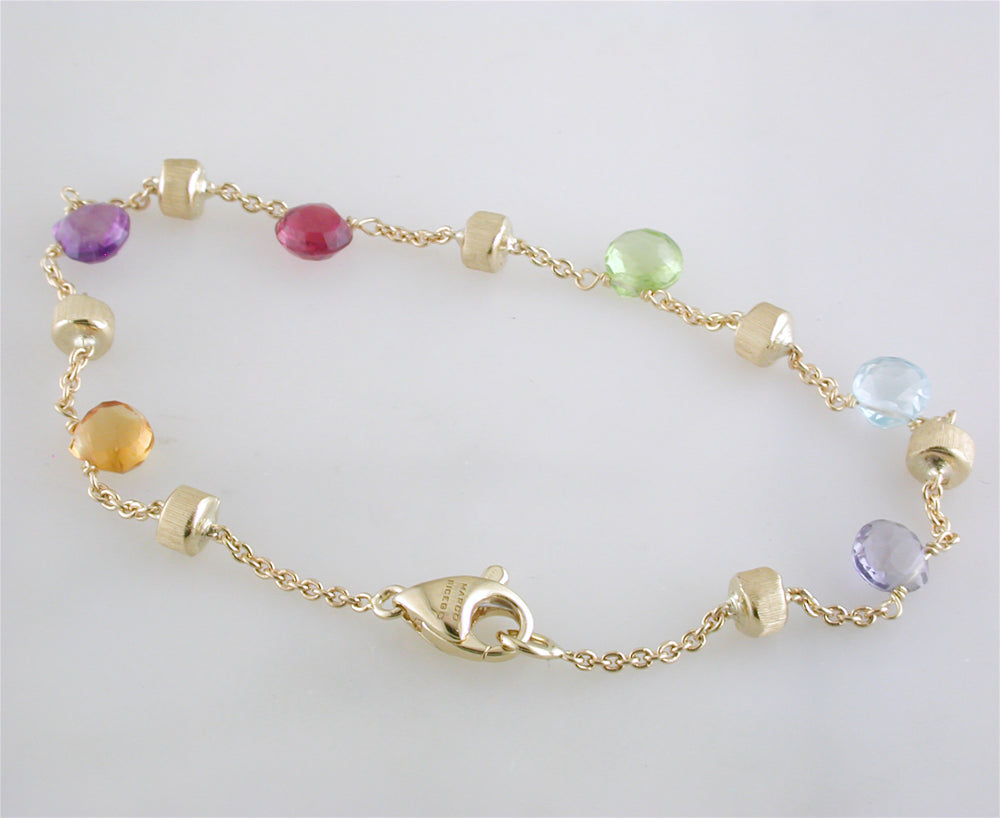 Marco Bicego Paradise Color Gemstone Yellow Gold Bracelet BB765