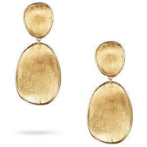 Marco Bicego Lunaria Oval Double Yellow Gold Drop Dangle Earrings OB1345