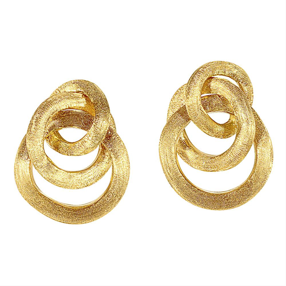 Marco Bicego 18 karat yellow gold small Jaipur Link knot earrings OB938 Y
