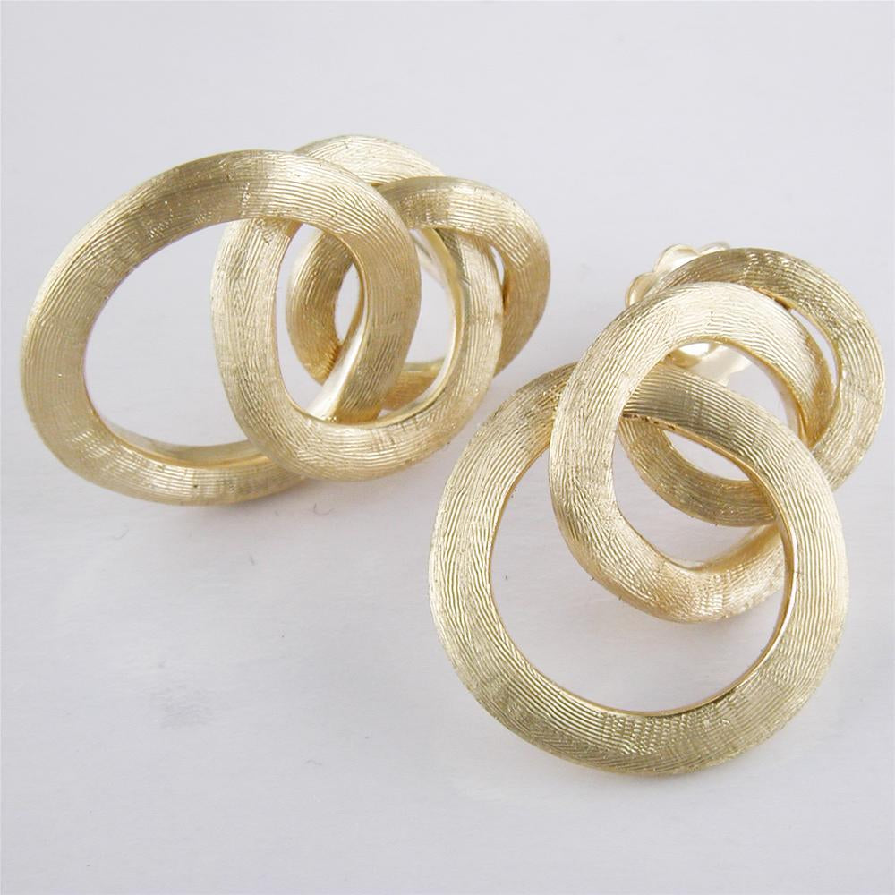 Marco Bicego 18 karat yellow gold small Jaipur Link knot earrings OB938Y