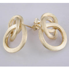 Marco Bicego 18 karat yellow gold small Jaipur Link knot earrings
