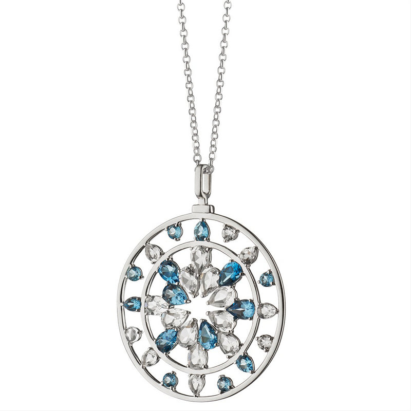 "Monica Rich Kosann ""Change"" London Blue Topaz & Rock Crystal Kaleidoscope Pendant Necklace"