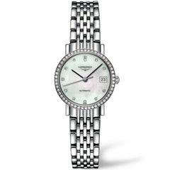 Longines Elegant Automatic Mother of Pearl Diamond Watch 26MM L43090876 nagi stamford