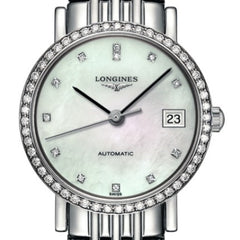 Longines Elegant Automatic Mother of Pearl Diamond Markers Watch 26MM L43090876 stamford