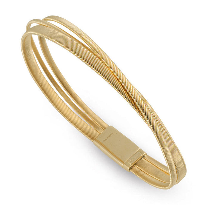 Marco Bicego Masai 18K Yellow Gold Three Row Crossover Bracelet BG7284