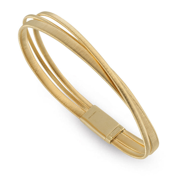 Marco Bicego Masai 18K Yellow Gold Three Row Crossover Bracelet BG728 Y01