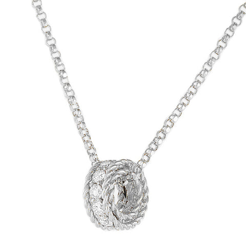Roberto Coin Princess Rondel Pendant With Diamonds