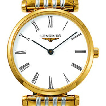 Longines La Grande Classique White Roman Numerals Stainless Steel/PVD Watch 24MM L42092117