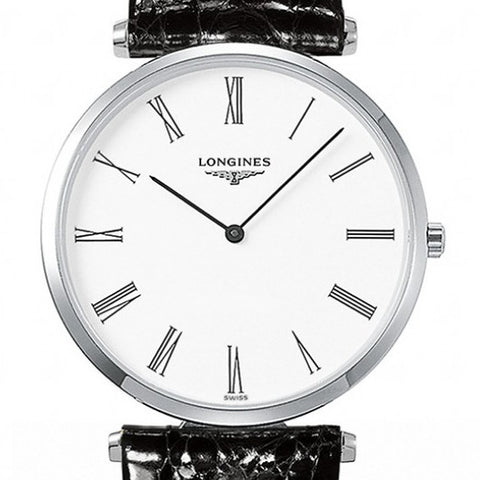 Longines La Grande Classique Quarzt Black Alligator Watch 36MM L47554112