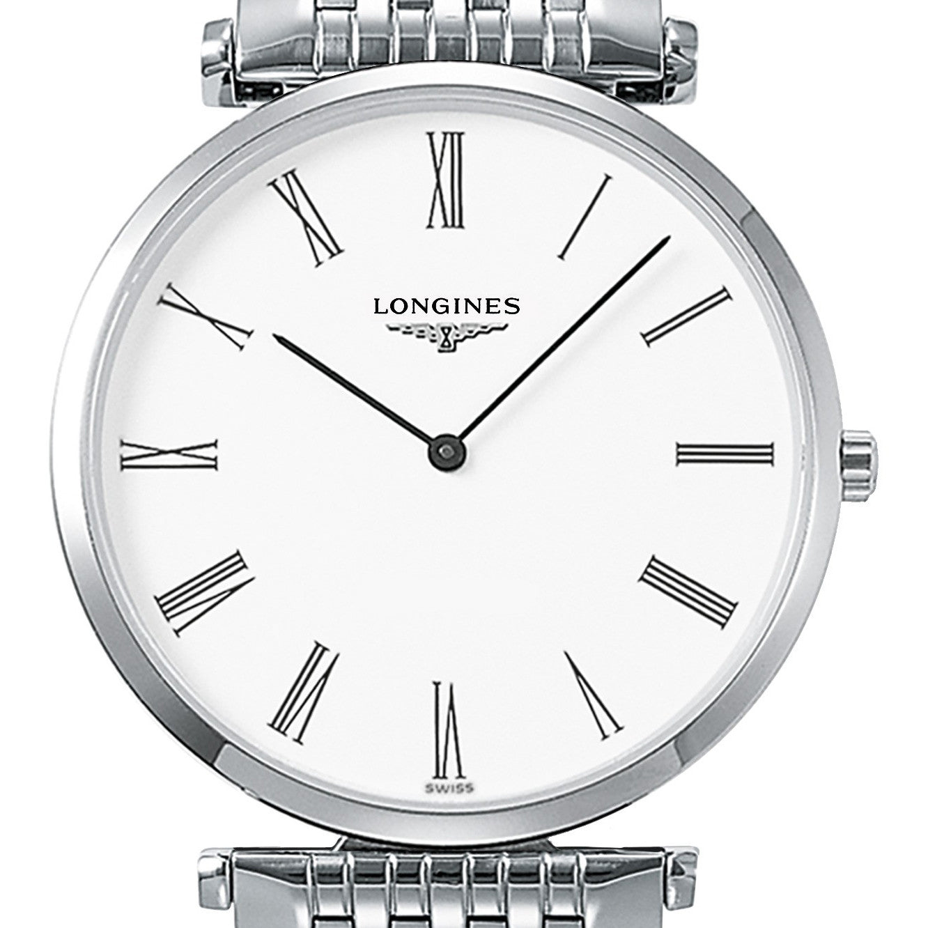 Longines La Grande Classique White Quartz Stainless Steel Watch 36MM L47554116