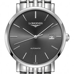 Longines Elegant Automatic Grey Dial Stainless Steel Watch 39MM L49104726