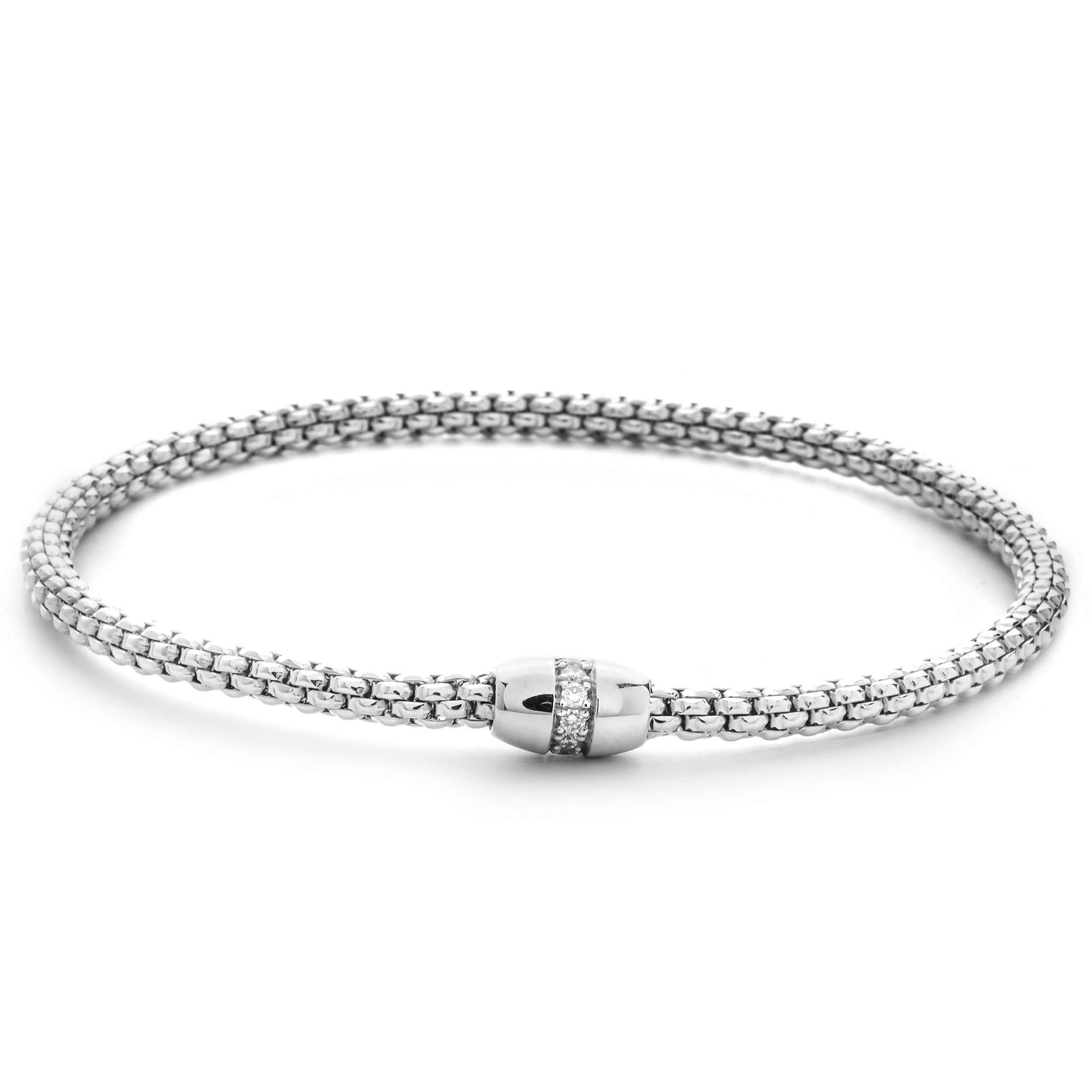 kors gallery bracelet brilliance silver bangles pave michael astor bangle studded braceletsilvertone product lyst pav jewelry
