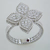 Roberto Coin 18k White Gold Princess Flower Ring with Diamonds