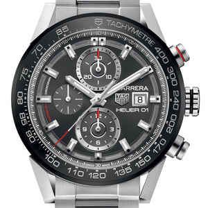 Tag Heuer Automatic Chronograph Ceramic Bezel 43MM CAR201W.BA0714 WATCH