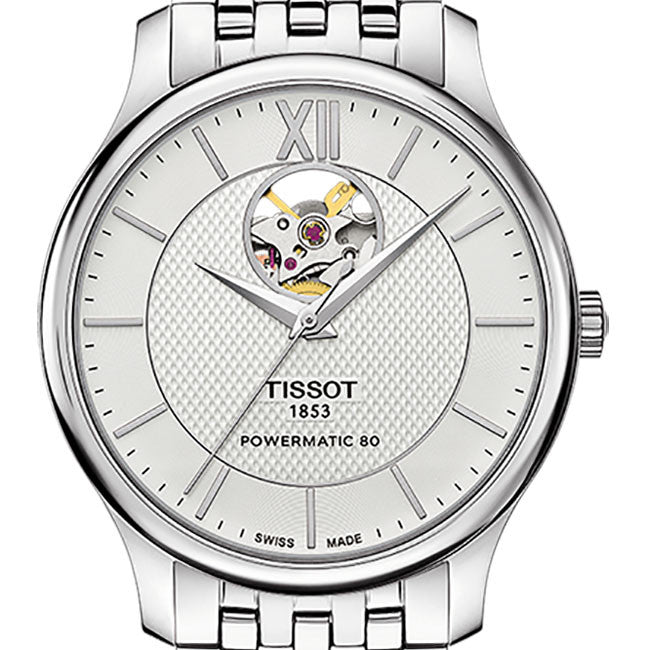 Tissot powermatic 80 open heart men's watch