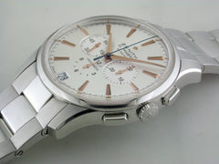 Zenith El Primero Captain Chronograph Silver Steel Watch 42mm 03.2110.400/01.M2110 Certified Pre-owned