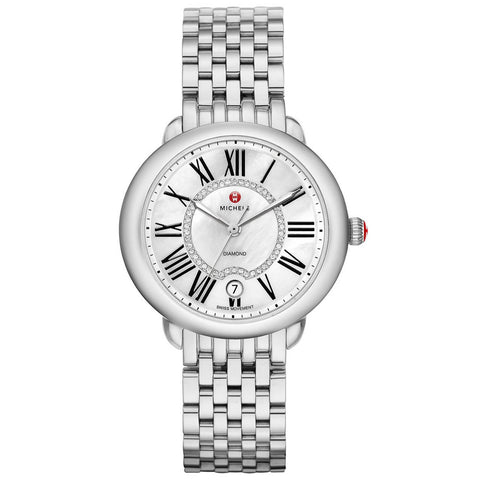 Michele Serein 16 Mother of Pearl Roman Numerals Diamond Watch