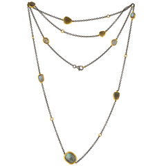 "Lika Behar ""Katya"" Labradorite Necklace in Sterling Silver & 24K Gold 38"""
