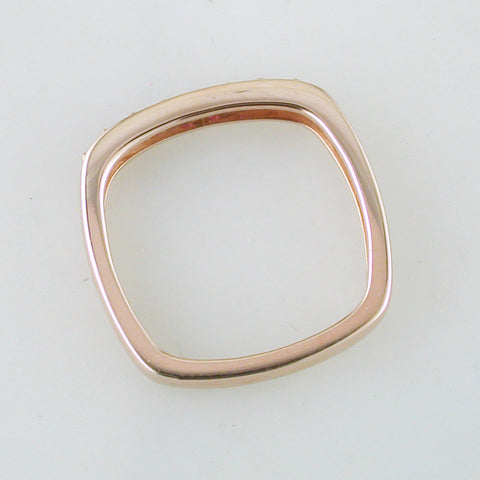 Jane Taylor Cirque Square Stackable Rose Gold Ring Pink & Orange Sapphires