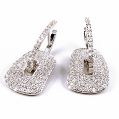 diamond puzzle earrings by mattioli