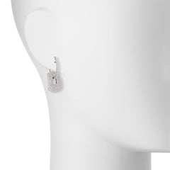 Mattioli Small 18K White Gold Full Diamond Puzzle Drop Earrings Choice of 2 Additional Drops